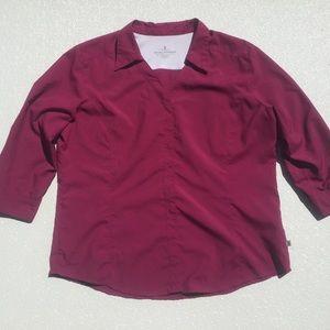Royal Robbins🎈 Shirt Hike Travel Pink Polyester L